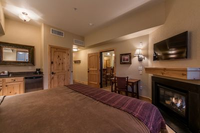 With a heavenly bed and its own amenities, this guest room is a private hideaway