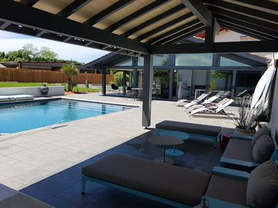 Photo for Beautiful villa, swimming pool, jacuzzi, beaches 10 minutes on Anglet :-)