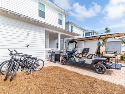 Photo for Specials 8/11-12/31!* 6 Seater Golf Cart! 4 Bikes! TWO Community Pools! ~ Sea-esta at NatureWalk 30A