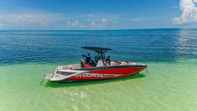 2018 Scarab Jet boat that available for rent with the house for $900 for 3 day