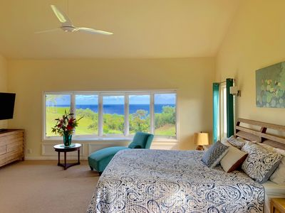 """Photo for Heavenly OCEAN VIEWs + A/C at """"Opening Flower"""" JOYFUL Princeville Home & Setting"""
