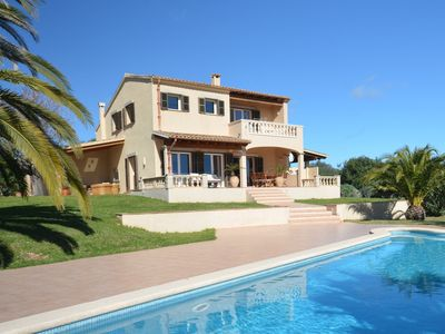 Photo for Sea view finca near Porto Colom, 8 pers., Wonderful pool u. Garden, WIFI