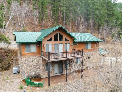Photo for One-Of-A-Kinda Spearfish Canyon Cabin - Great Views, Hot Tub, Great Amenities