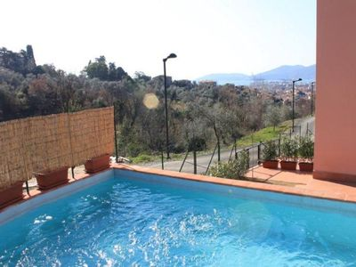 Photo for House with private swimmimng pool wiht Jacuzzi and garden,sea view,in the hill of the Gulf of La Spezia, ideal for beach holidays and daily trips to the Five Land.