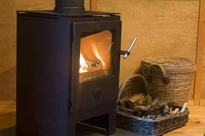 A real fire for chilly evenings