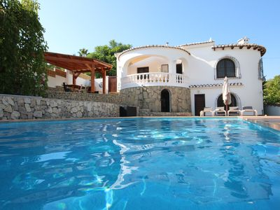 Photo for MORAIRA - High Quality 3 Bed Villa With Large Private HEATED Pool