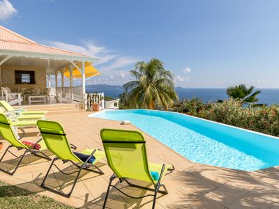 Photo for Villa with pool panoramic views of the Caribbean Sea