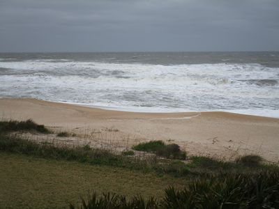 View of surf to northeast