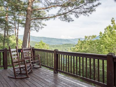 Photo for Great views, tons of amenities! Hot tub! Secluded and close to the attractions!