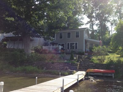 View of the house from the dock.