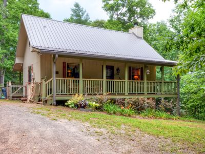 Photo for 2BR Warne Cabin w/Covered Porches & Hot Tub!