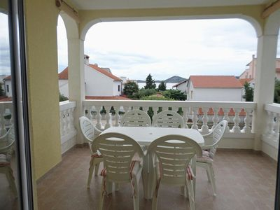 Photo for Three bedroom apartment with terrace and sea view Vodice