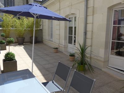 Photo for 4 **** cottage in the heart of Saumur. Private garage, large terrace.