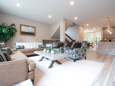 Photo for Whistler Family Getaway: PRIVATE HOT TUB, FIREPLACE, Steps to Trails, 5 mins to Village!