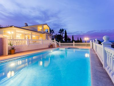 Photo for Luxury air-conditioned villa with stunning sea views