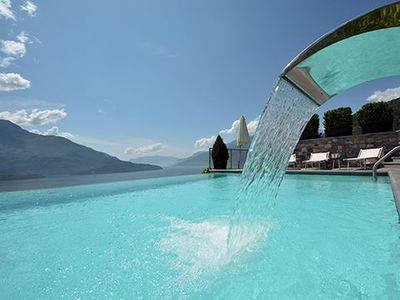 Photo for Holiday apartment  with pool and with stunning  panoramic view of Lake Como