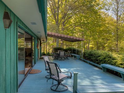 Deck is the full length of the home. Outside living at its best!