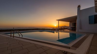 Photo for Villa Pharus Mykonos Panoramic View 4br upto 10guests Private Pool