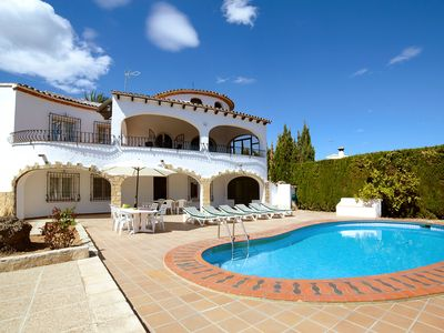 Photo for This 6-bedroom villa for up to 12 guests is located in Calpe and has a private swimming pool and Wi-