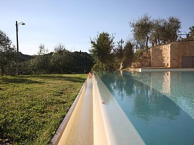 Photo for Casa Bonannia F: A bright two-story apartment in the characteristic style of the Tuscan countryside.