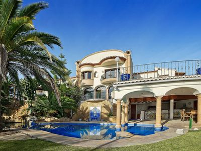 Photo for Wonderful private villa for 10 guests with hot tub, private pool, WIFI, A/C, TV, balcony and par...