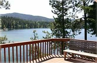 View of Hayden Lake from the deck