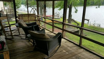 Photo for Beautiful Rustic Cabin On Lincoln Lake Is A Sportmans Paradise!