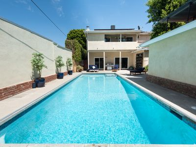 Photo for Pristine & Private large 5b4bath, Private Pool Chef's Kitchen 3m to Venice Beach