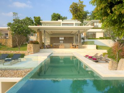 Photo for Luxury 5 Bedroom Villa with outdoor terraces, day beds and incredible sea view
