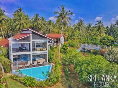 Photo for Private estate with 5 waterfront villas and 4 plunge pools in Negombo