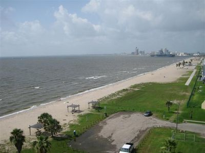 Photo for Large Beachfront Condo 8th Floor Views of Water, City Lights & USS Lexington