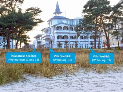 Photo for Beach House Seeblick Apartment 11 to 6 people directly on Binzer beach