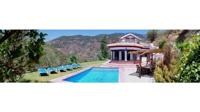 Photo for Beautiful villa bordering the natural park, sea and mountain views