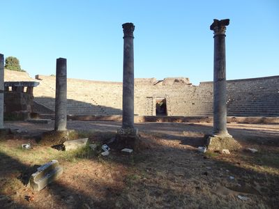the archeological park, 10 minutes walk from us