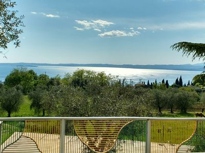 Photo for Apartment with a panoramic view of Lake Garda