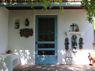 Photo for Folk House - Charming Folk Art Inspired Guest House On Beautiful Tesuque Estate