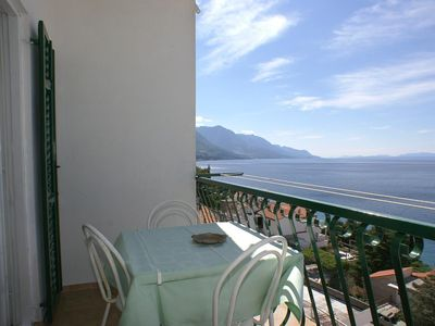 Photo for Two bedroom apartment with balcony and sea view Pisak, Omiš (A-2742-b)