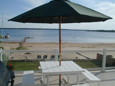 Photo for Spectacular Year-round Luxury Family Beach Vacation Home on Lake Missaukee