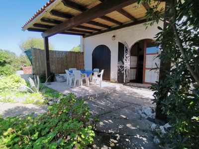 Photo for Quiet Ground Floor Apartment  20 meters  from the Sea with Private Garden & BBQ
