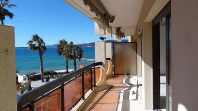 Photo for Sea front apartment in the center of Juan les Pins with underground parking