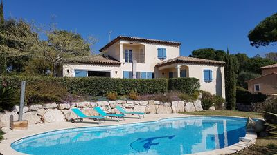 Photo for Villa Pool Panoramic View Close to golf courses 8 Pers