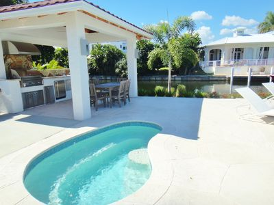 Photo for Waterfront Luxury with Pool, Boat Dock-POSHPADZ Walk To Beach Villa Paradiso