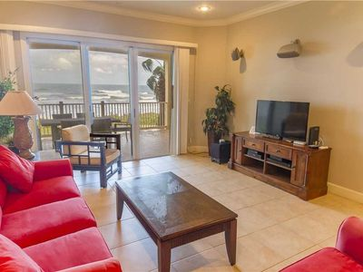 Enjoy the ocean views throughout our condo - You'll get beautiful ocean views and sparkling Florida sunshine throughout our condo. And in the evenings, everyone will enjoy the HDTV with a 250 channel premium cable package.