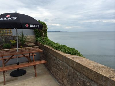 View from the patio to the East and Langstone Rock