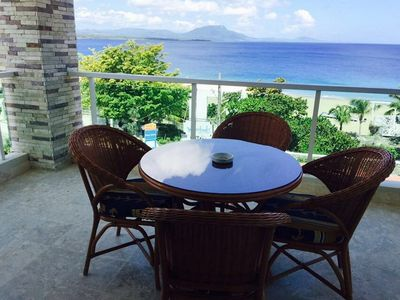 Photo for Sea-views 2BD 2BTH steps from sandy beach and shops, fully equipped