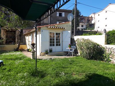 Photo for Little house with big garden, Vence center, close Nice, french riviera, France