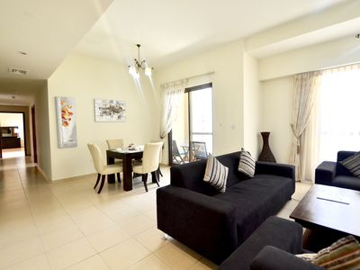 Photo for Stunning Marina View•Jumeirah Beach Residence •2 BR Family Stay Home