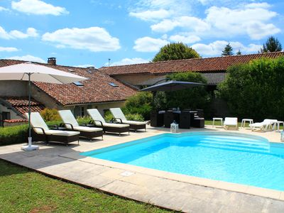 Photo for Beautiful 16th Century Farmhouse with amazing views and private heated pool!
