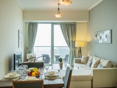 Photo for Chic Marina Apt w/ Palm Jumeirah & Sea Views