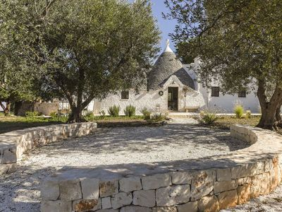 Photo for Trullo with infinity pool between Cisternino and Ostuni half an hour from the sea.